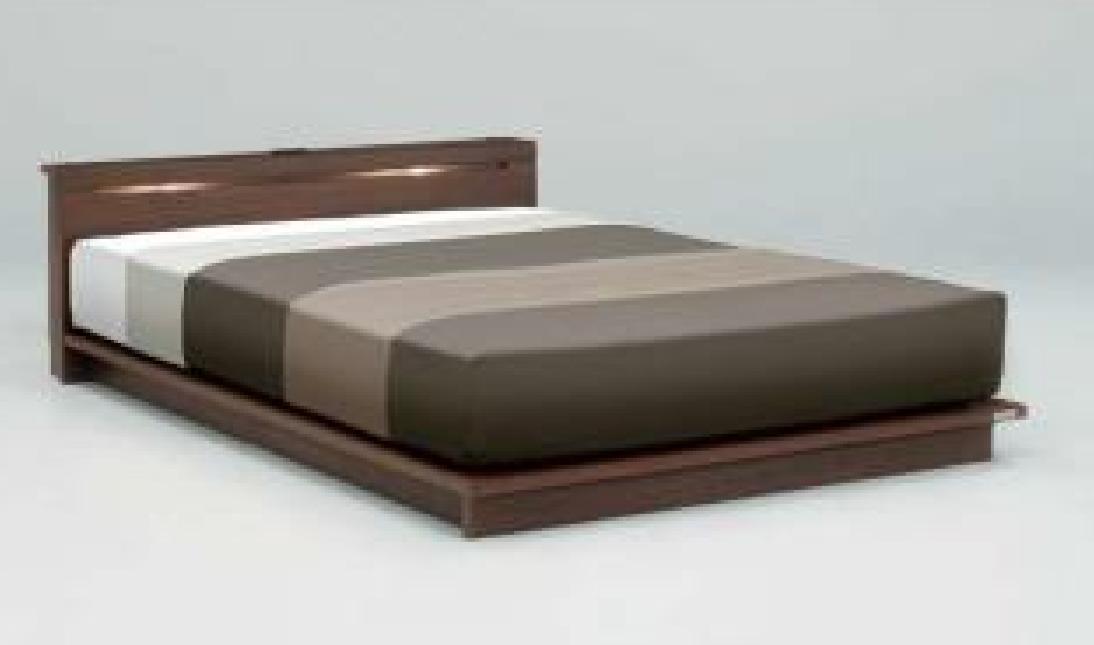ダブルサイズ ベッド フレーム ロータイプ|種田家具|お買い得ベッドの画像1