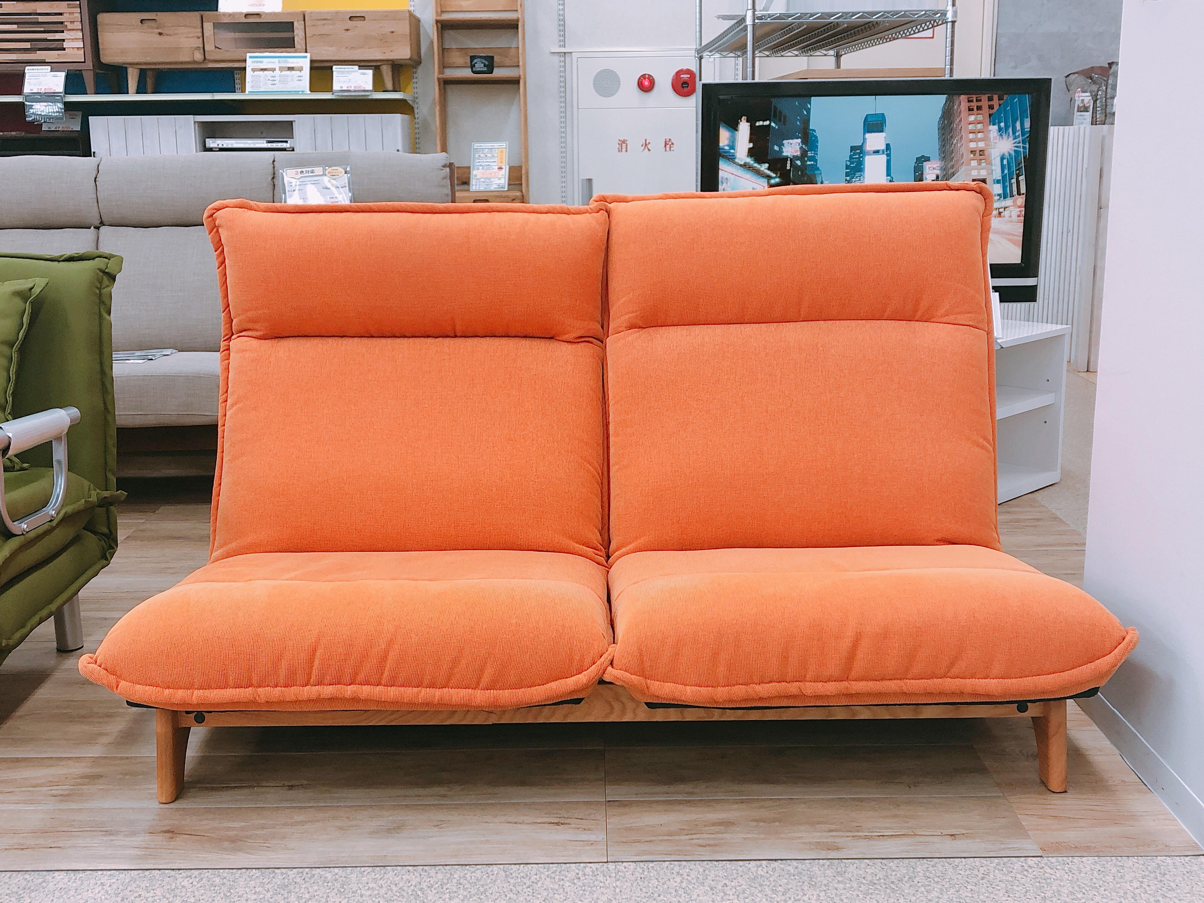 2人掛けリクライニングソファー モデルチェンジのための画像1