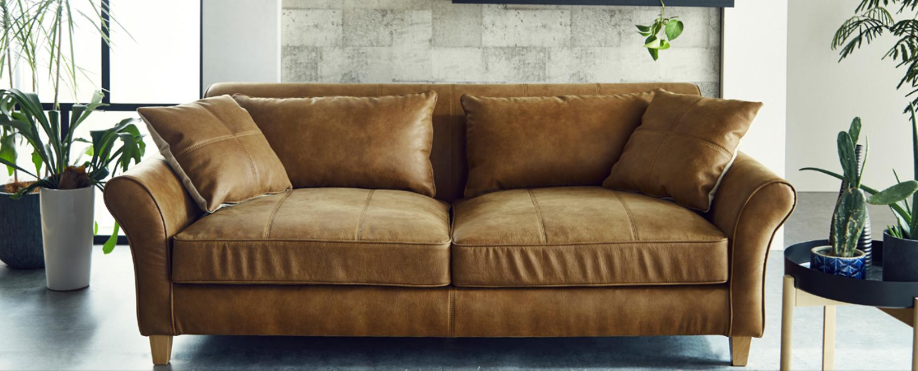 奥深座面のゆったりソファーを楽しむ 座面広々 ローバックの画像2