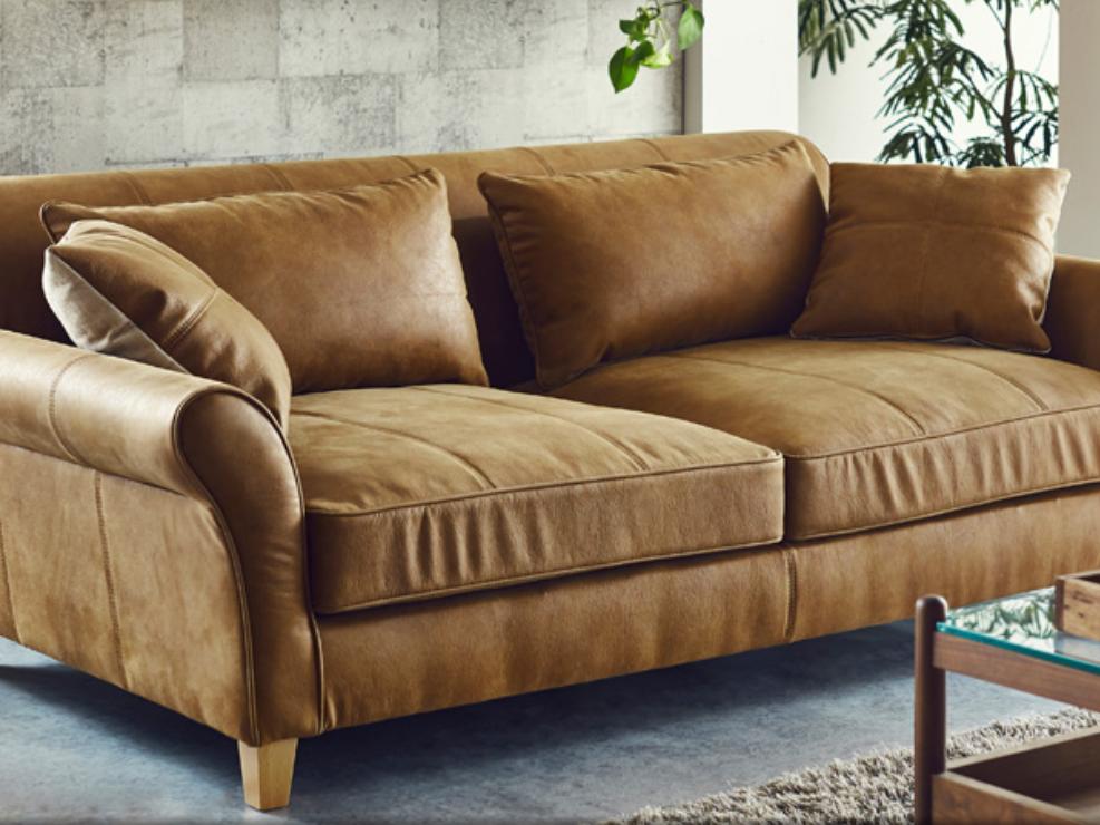 奥深座面のゆったりソファーを楽しむ 座面広々 ローバックの画像1