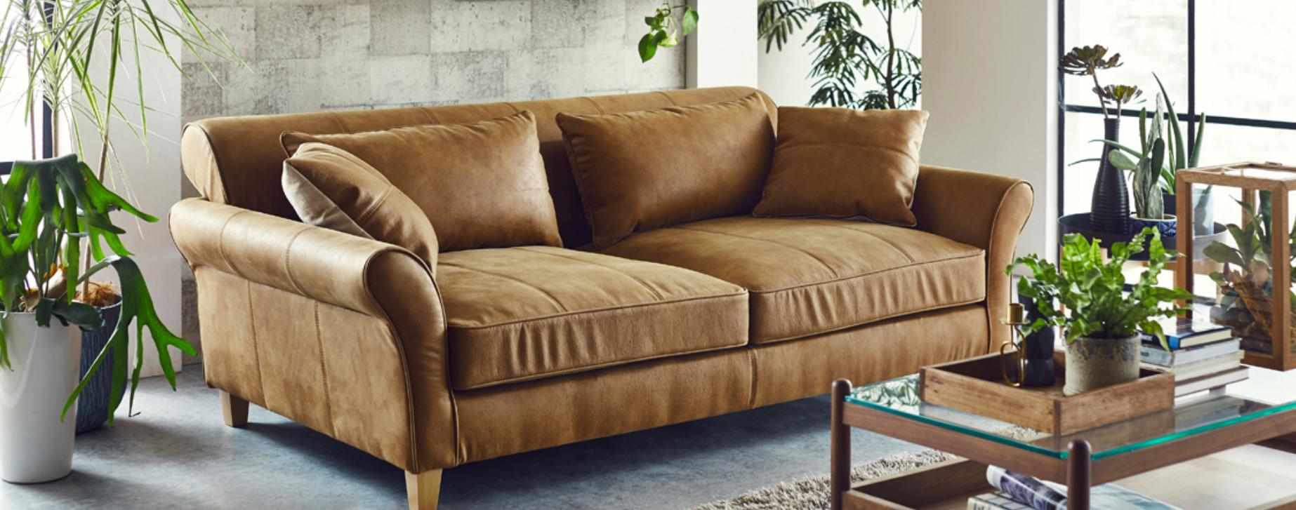 奥深座面のゆったりソファーを楽しむ 座面広々 ローバックの画像3