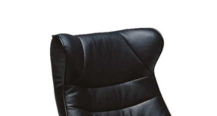 質の良いブラック本革 パーソナル リクライニングソファーの画像2