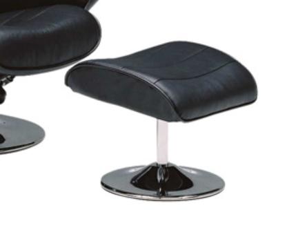 質の良いブラック本革 パーソナル リクライニングソファーの画像3