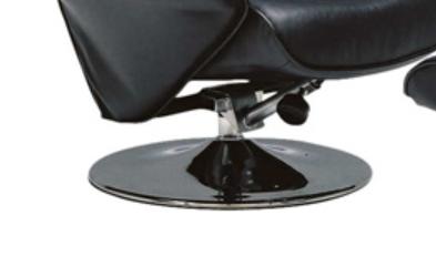 質の良いブラック本革 パーソナル リクライニングソファーの画像4