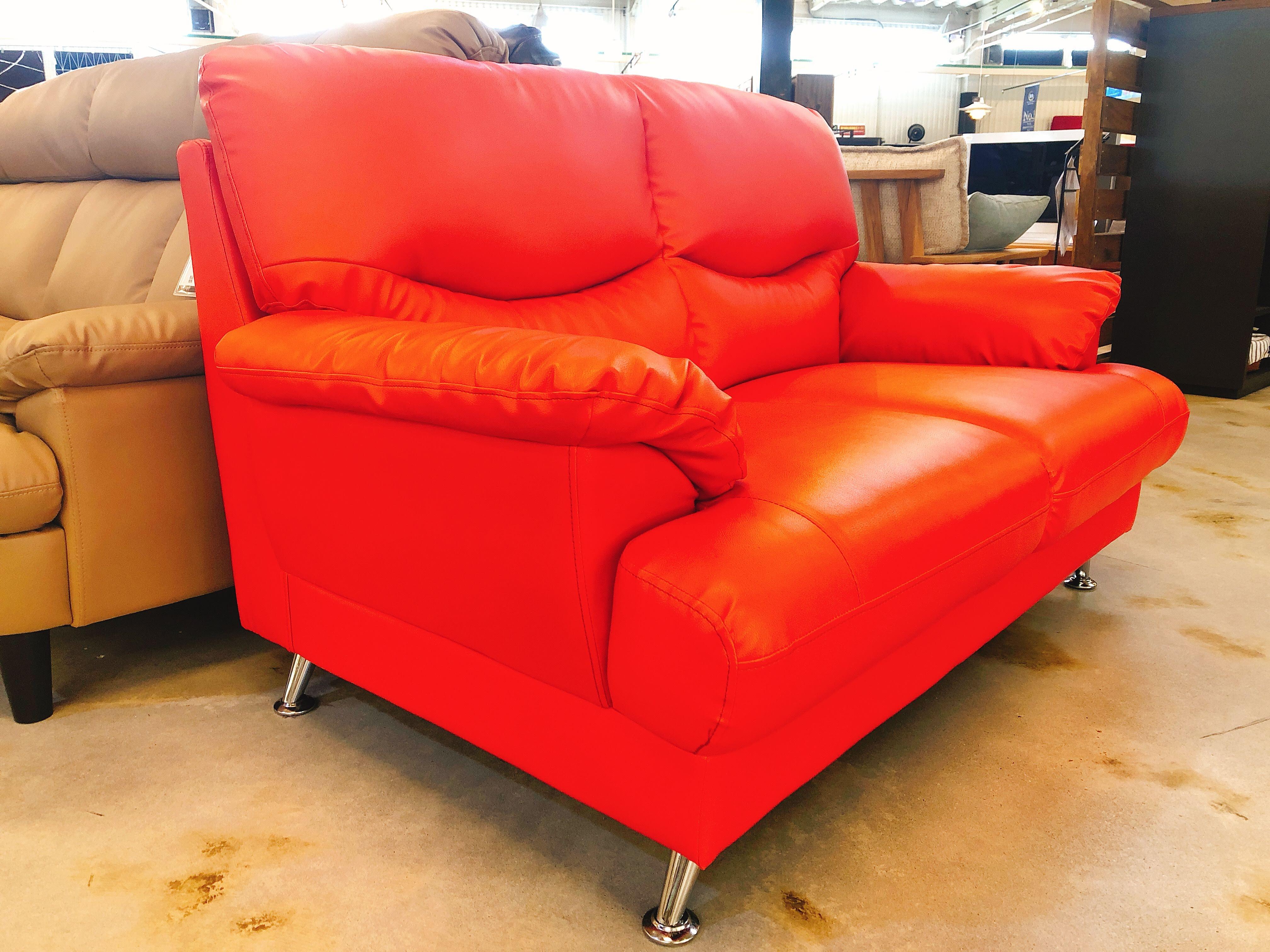 人工レザー(合皮)2人掛けソファー 展示入れ替えのため1点限りの画像2