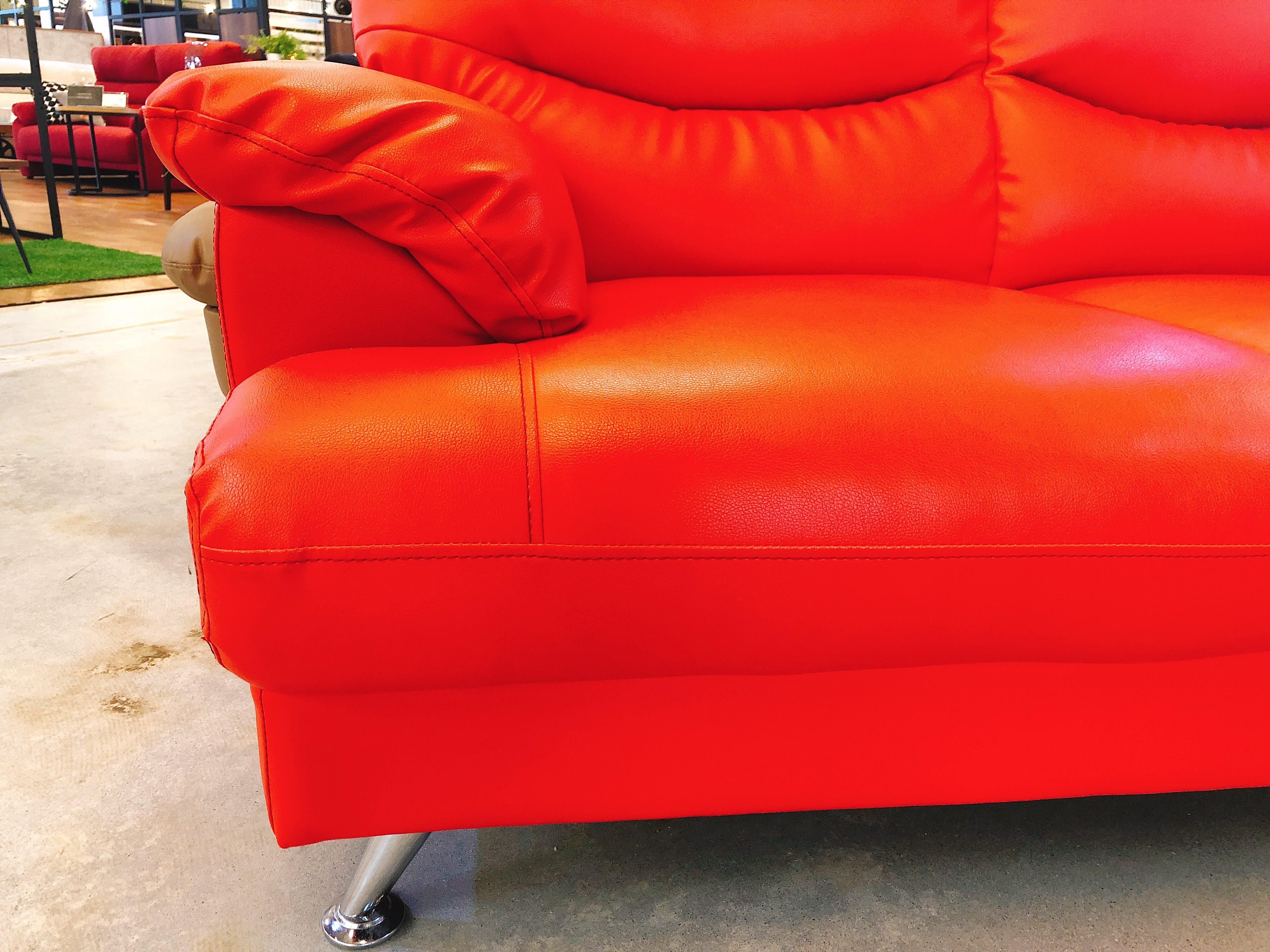 人工レザー(合皮)2人掛けソファー 展示入れ替えのため1点限りの画像3