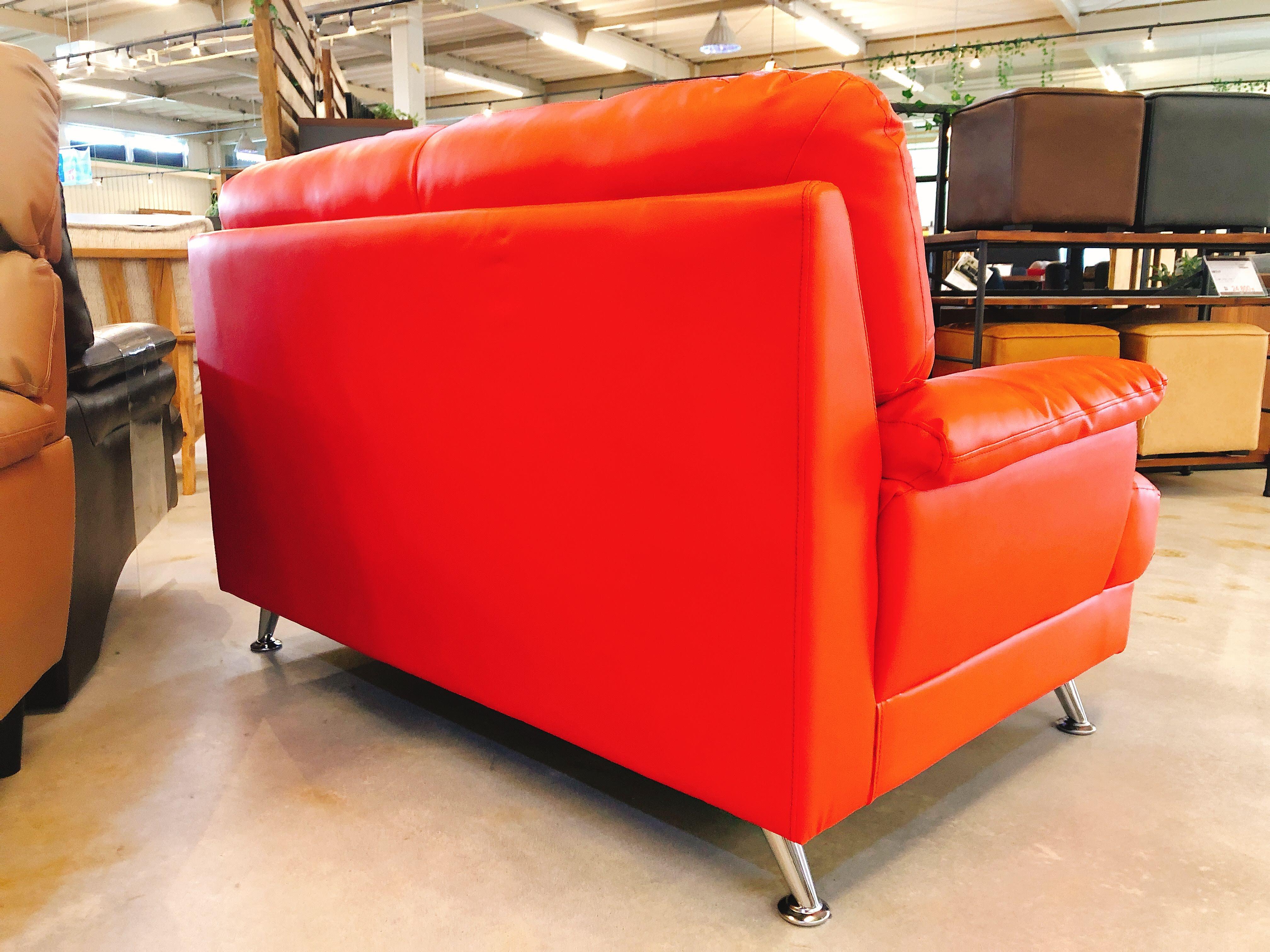 人工レザー(合皮)2人掛けソファー 展示入れ替えのため1点限りの画像4
