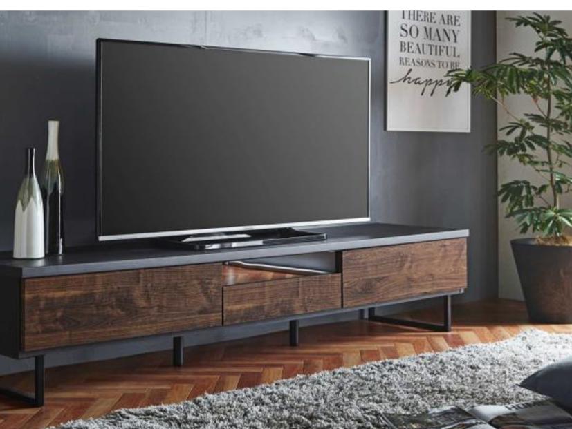 カッコよく落ち着いたデザイン 150㎝巾テレビボードの画像1