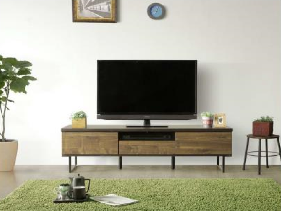 カッコよく落ち着いたデザイン 150㎝巾テレビボードの画像2