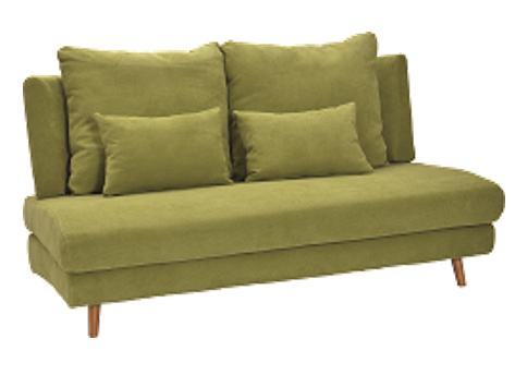 座面が広い ゆったり ファブリックソファー 6色から選べるの画像2