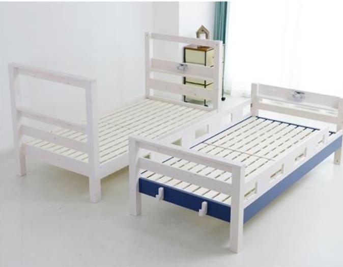 シンプルデザインで機能的 やさしい印象の二段ベッドの画像4