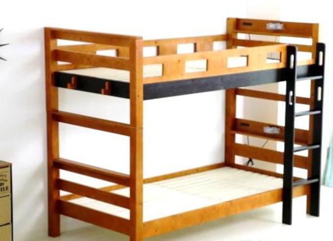 シンプルデザインで機能的 やさしい印象の二段ベッドの画像5