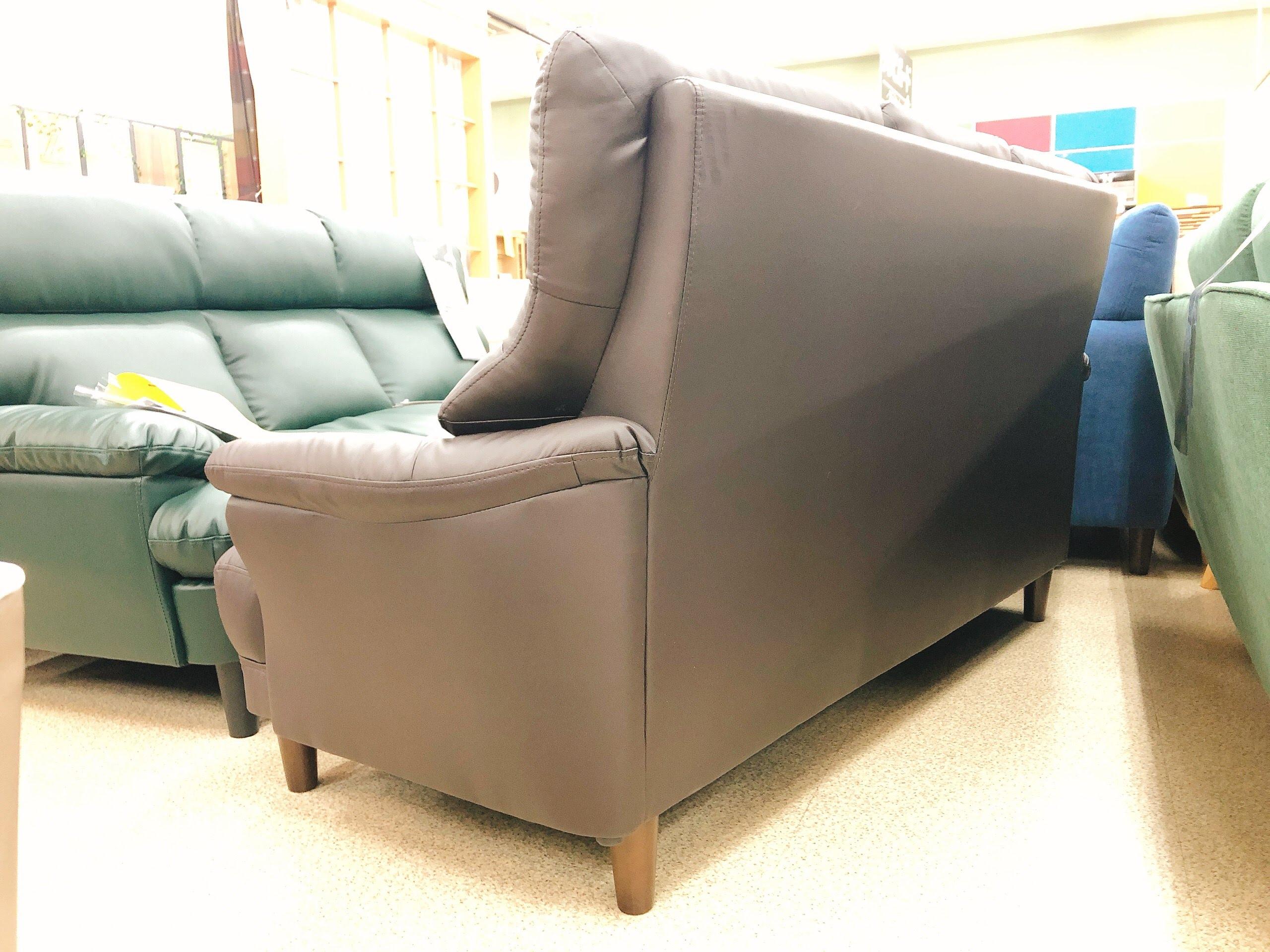 3人掛けAPU合成皮革ソファー 固めの座り心地のハイバックの画像5