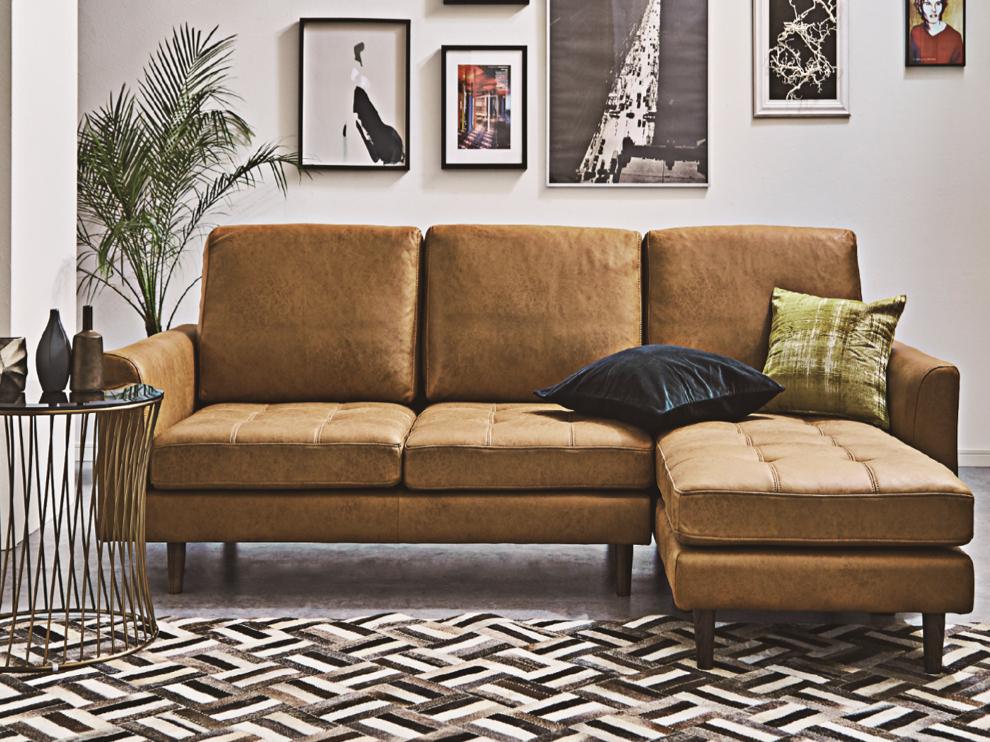 新素材コンパクト カウチソファー|組み換え可能でレイアウトいろいろの画像1