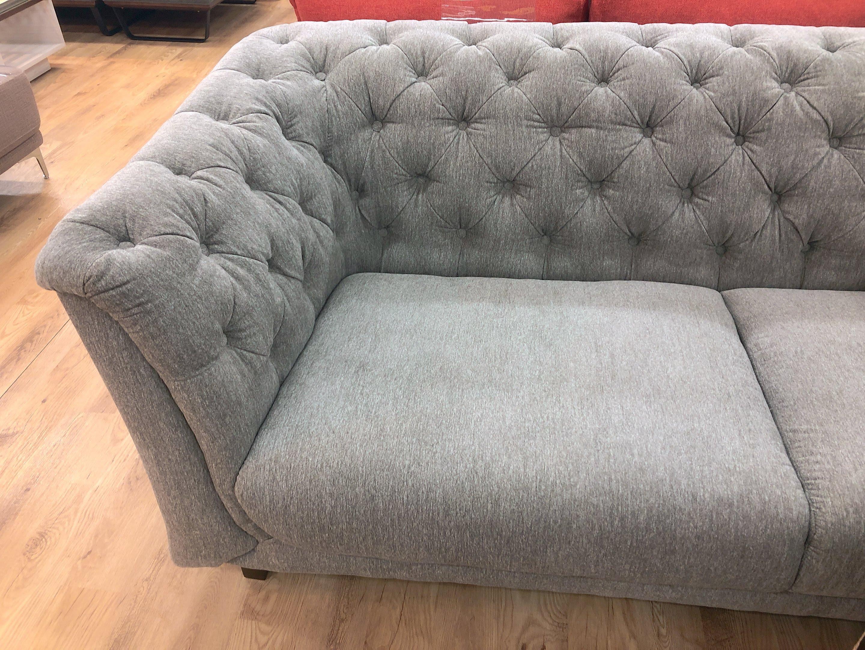 こだわりのデザイン クッション4個付き ファブリック3人掛けソファーの画像5