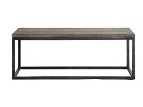 ニレ古材とスチールのコンパクト コーヒーテーブルの画像3