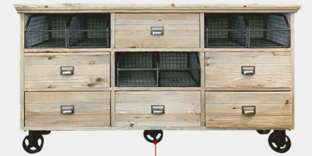 古材とスチールのテレビボード|キャビネットも2タイプの画像4