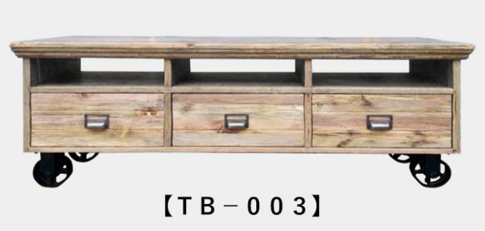 古材とスチールのテレビボード|キャビネットも2タイプの画像1