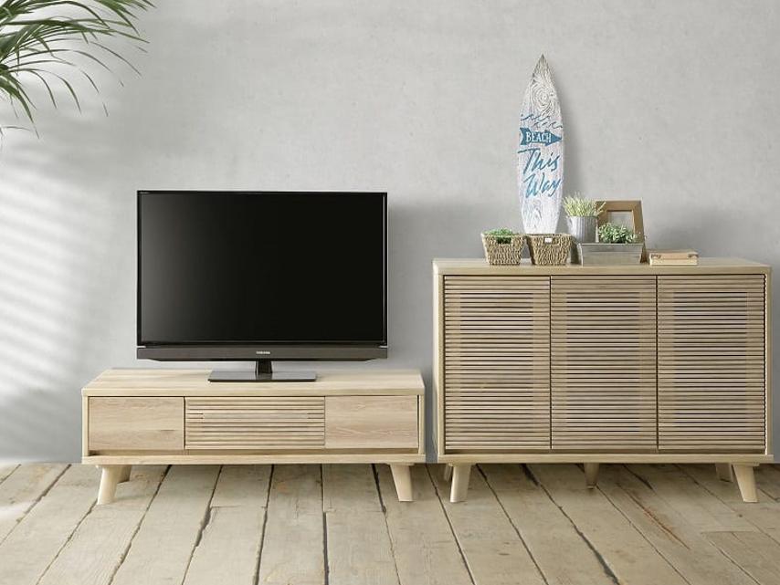 141㎝巾オーク材突板テレビボード サイドボードもありますの画像1
