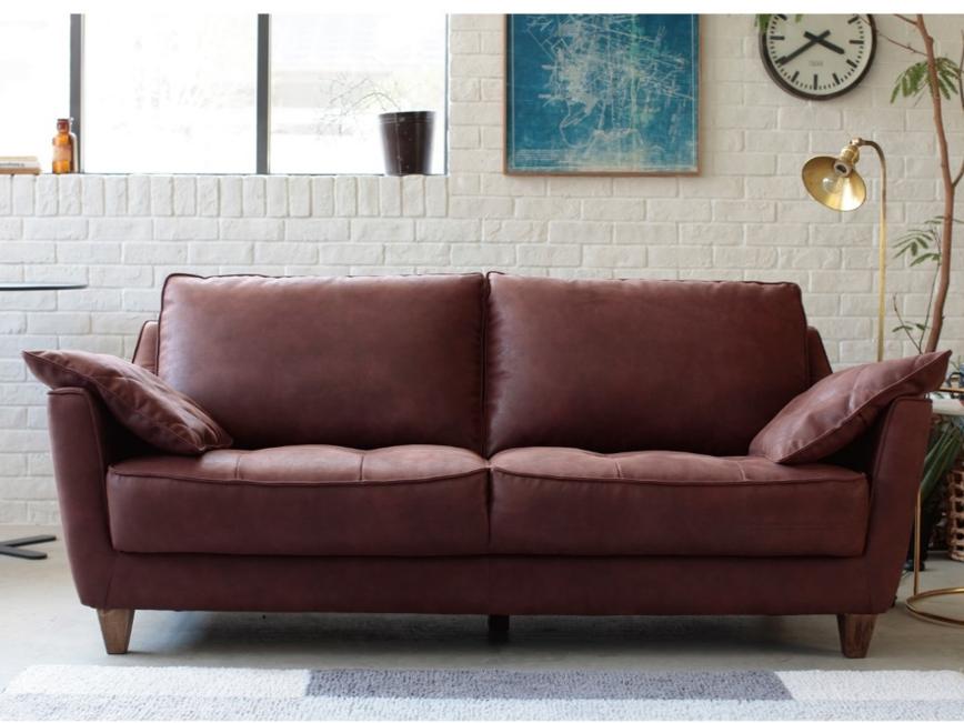 新素材スーパーレザーテックスのイタリアンデザイン2.5人掛けソファーの画像1