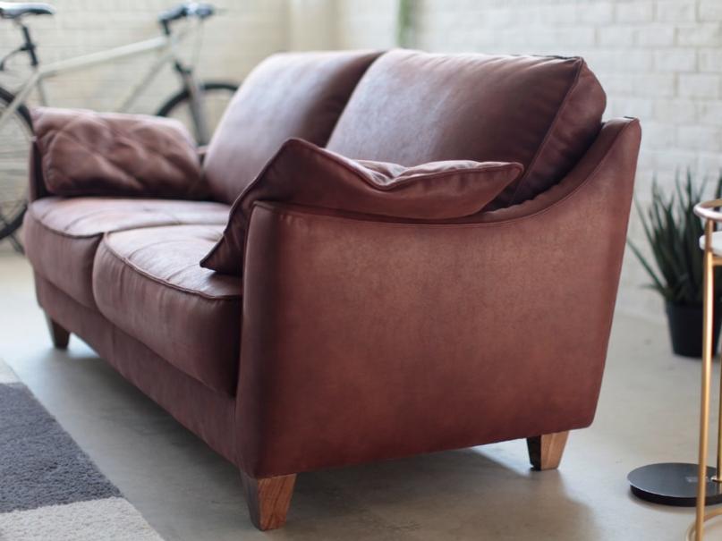 新素材スーパーレザーテックスのイタリアンデザイン2.5人掛けソファーの画像2