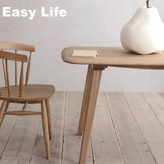 ナラ無垢材節ありをあえて使用シンプル ダイニングテーブルCRASHブランド Easy Lifeの画像2