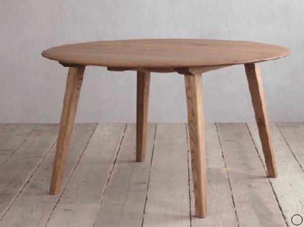 ナラ無垢材節ありをあえて使用シンプル ダイニングテーブルCRASHブランド Easy Lifeの画像3