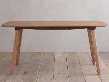 ナラ無垢材節ありをあえて使用シンプル ダイニングテーブルCRASHブランド Easy Lifeの画像6