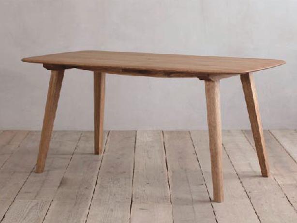 ナラ無垢材節ありをあえて使用シンプル ダイニングテーブルCRASHブランド Easy Lifeの画像4