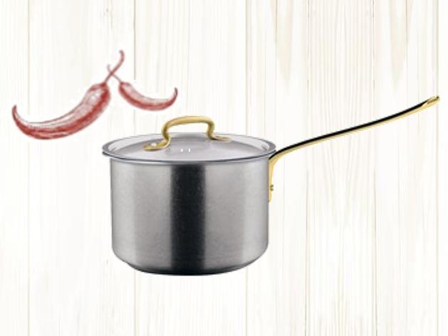 MADE IN ITALY イタリアのお鍋 ハンドル部分はアンティーク調の真鍮の画像2