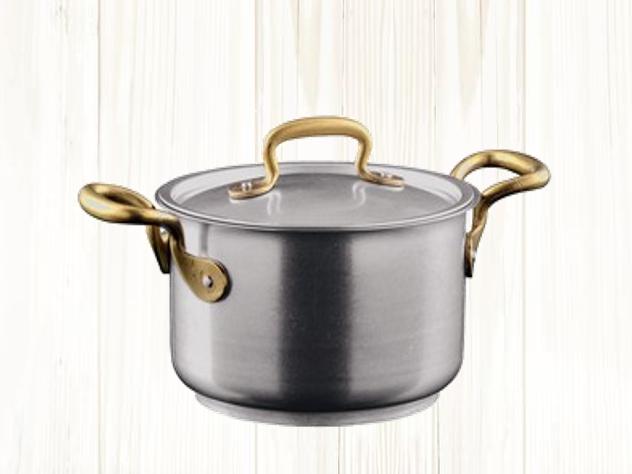 MADE IN ITALY イタリアのお鍋 ハンドル部分はアンティーク調の真鍮の画像3
