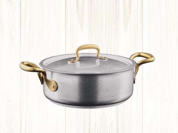 MADE IN ITALY イタリアのお鍋 ハンドル部分はアンティーク調の真鍮の画像4