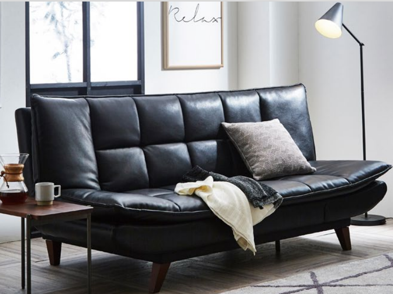新素材ユーロテック張り変身ソファーベッドの画像1