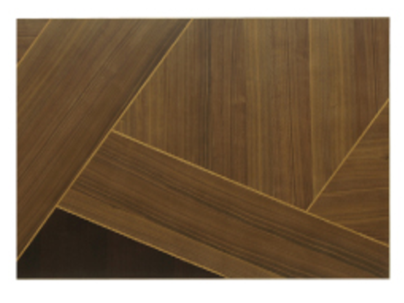 3種類の木材を貼り分けたテーブル お洒落な4人用ダイニングセットの画像5