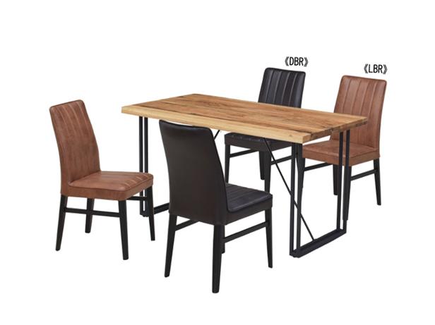 4㎝厚のオーク無垢材天板とスチール脚の150㎝巾ダイニングテーブルの画像2