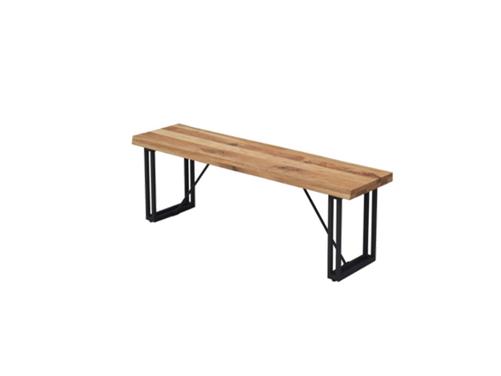 4㎝厚のオーク無垢材天板とスチール脚の150㎝巾ダイニングテーブルの画像4