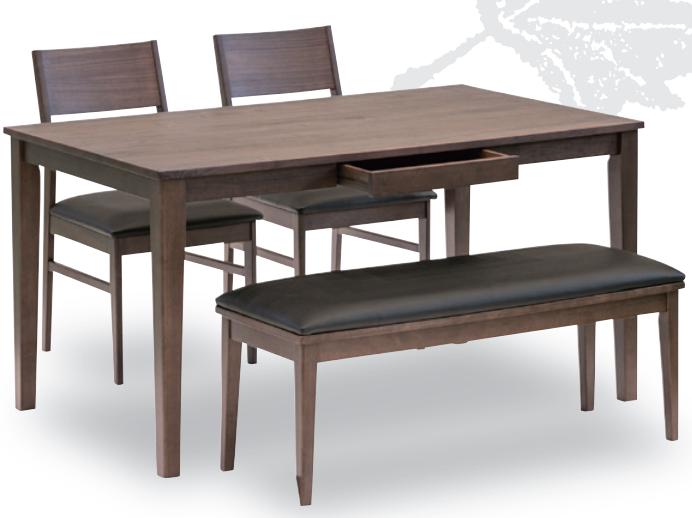 天然木の表情を生かしたデザインに機能をプラスした食卓セットの画像4